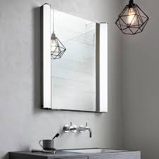 bathroom cabinets with lights bauhaus duo 600mm led illuminated mirror cabinet sanctuary bathrooms