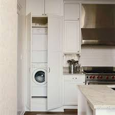 Washer And Dryer Cabinet Kitchens With A Laundry Area Washer Dryer And Refrigerator