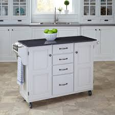 Crosley Furniture Kitchen Cart Crosley White Kitchen Cart With Natural Wood Top Kf30051wh The