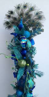 Blue And Silver Christmas Tree - christmas blue ander christmas tree topper decorated in ideas