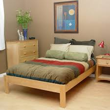 simple wood platform bed bett float wildeiche now featured on fab