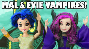 mal and evie are vampires after being bitten at elsa u0027s halloween