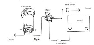 air horn wiring diagram u0026 installing horns