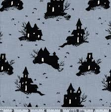 cotton steel lil u0027 monsters halloween 5128 2 spooky mansion on