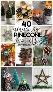 40 awesome pinecone crafts and projects a and a glue gun