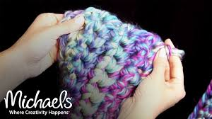 how to finger crochet a scarf all things yarn michaels youtube