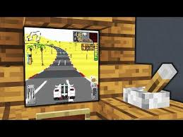 minecraft how to make a working car game arcade tutorial