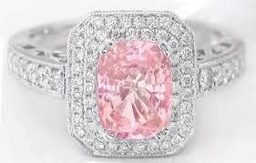 pink wedding rings ceylon unheated padparadscha sapphire and diamond ring in 14k
