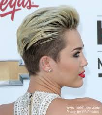 whats the name of the haircut miley cyrus usto have miley cyrus extremely short hairstyle with the hair buzzed close