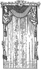 lace curtains stock image the graphics fairy
