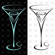martini silhouette vector two glasses of martini vector clipart image 116203 u2013 rfclipart