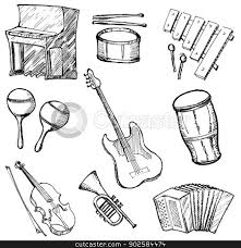 sketches for musical instruments sketches www sketchesxo com