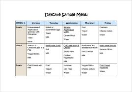 customizable menu templates daycare menu templates 11 free printable pdf documents
