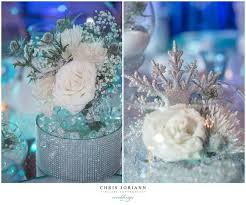 Sweet 16 Table Centerpieces Beautiful Snowflake And White Roses Winter Wonderland Table