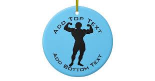 personalized bodybuilder ceramic ornament zazzle