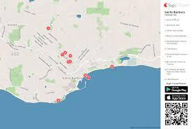 Google Maps Tijuana Santa Barbara Printable Tourist Map Sygic Travel