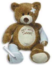 get well soon for children the big discount 15 plush get well soon teddy w cast for