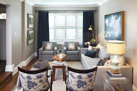 Curtains And Home Decor Inc Navy Blue Curtains Living Room Contemporary With Artwork
