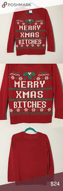 merry bitches sweater sweater merry bitches m ugliest
