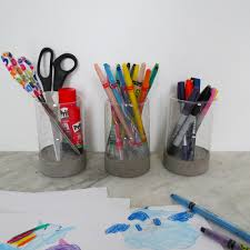 Pencil Holder For Desk Make A Pencil Holder From A Tuna Can And A Plastic Bottle Ohoh Blog