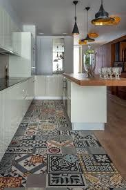Kitchen Floor Tiles Kitchen Flooring Hickory Laminate Tile Look Floor For Low Gloss