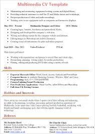 multimedia cv template tips and download u2013 cv plaza
