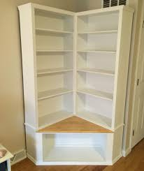 Corner Bookcase With Doors by Custom Made Shabby Chic Corner Bookcase With Seat By The Crabby
