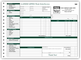 Landscape Estimating Software by Work Orders Work Order Forms Landscape Work Orders Print Forms