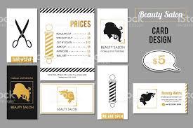 salon services cards design vector golden card templates