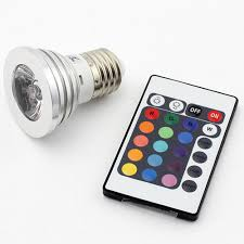color changing light bulb with remote e27 3w rgb multicolor led 16 color changing l light bulb ir