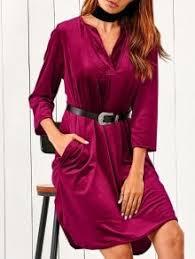 velvet midi dress fashion shop trendy style online zaful