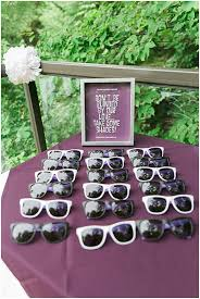 sunglasses wedding favors purple cottage wedding the budget savvy