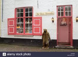 the bear necessities shop in bruges belgium stock photo royalty
