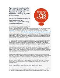 Submit Your Resume Online by Applicant Tracking Systems And Resume Parsers Ats Applicant