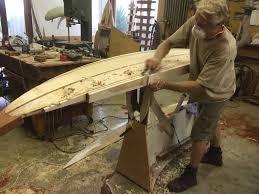 Surfboard Bar Table 10 U0027 Gun Banks Wooden Surfboard In The Making