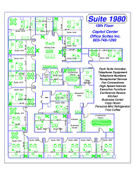 Floor Plan Of The Office Floor Plans U2014 Capitol Center Office Suites Inc