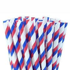 paper straws and white paper straws stripes 25 pack birando