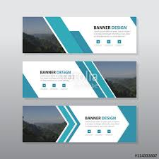 layout banner design blue abstract corporate business banner template horizontal
