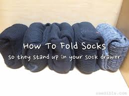 how to fold socks the marie kondo way so they stand up in your
