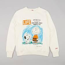 tsptr x life mag peanuts snoopy u0026 charlie crew neck sweatshirt