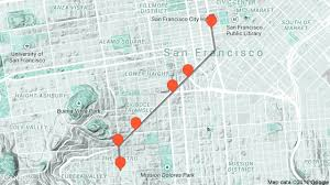 San Francisco Walking Map by Harvey Milk Travel Tour Audio Guide In San Francisco On