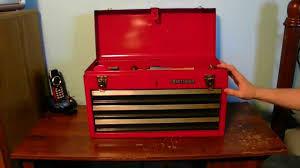 old craftsman tool box youtube