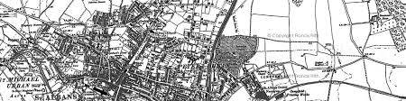 map of st albans st albans photos maps books memories francis frith
