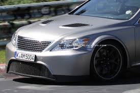 lexus tte wheels scoop mystery sport lexus ls caught testing on the u0027ring could