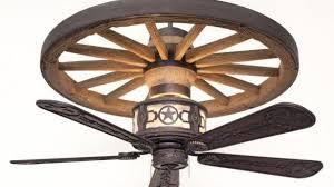 wagon wheel ceiling fan light dan s ceiling fans a rich and rustic fan light attractive with