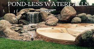 pond less waterfalls designed and built by sawyer waterscaping