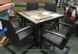 Outdoor Patio Furniture Costco by Agio International 5 Piece Woven Dining Set Costco Weekender