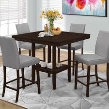 tall dining tables small spaces bar height dining tables black counter top dining sets 7 pc