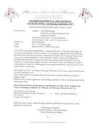 Teaching Application Cover Letter Elderarge Info Internal Application Cover Letter Aspx