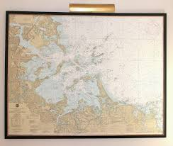 Nautical Maps Orc How To Mount And Frame A Large Map Shine Your Light